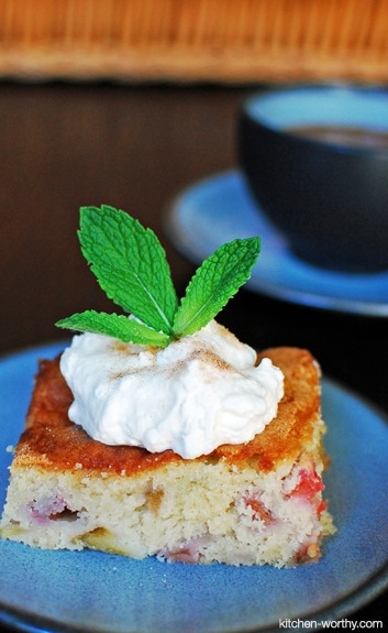 RECIPE: I love Rhubarb Cake
