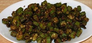 Make Indian bhindi masala  (spicy okra)