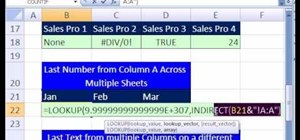 Pull the last item from an external column in MS Excel