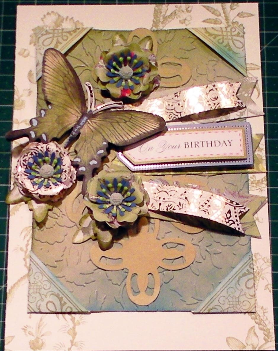 How to Make a Peacock 3D Butterfly Embossed Card