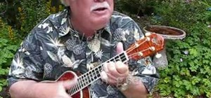 "Play ""Somewhere Over the Rainbow"" on the ukulele"