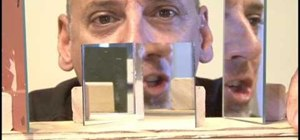 Build a pseudoscope with mirrors