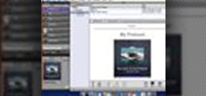 Export your podcast from Garageband to iWeb