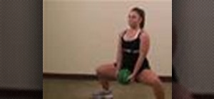 Do a sumo squat with a medicine ball
