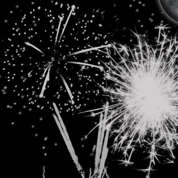 Fireworks Photography Challenge: Fireworks in GRAY
