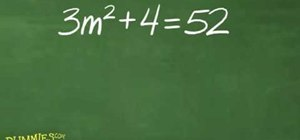 Solve quadratic equations with the square root rule