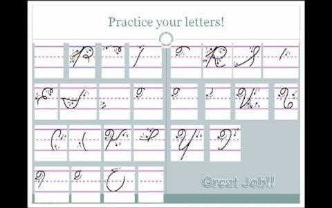 Write in cursive and more