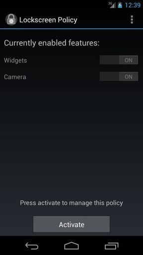 Widgets and Camera Access on the Lockscreen in Android Jelly Bean 4.2