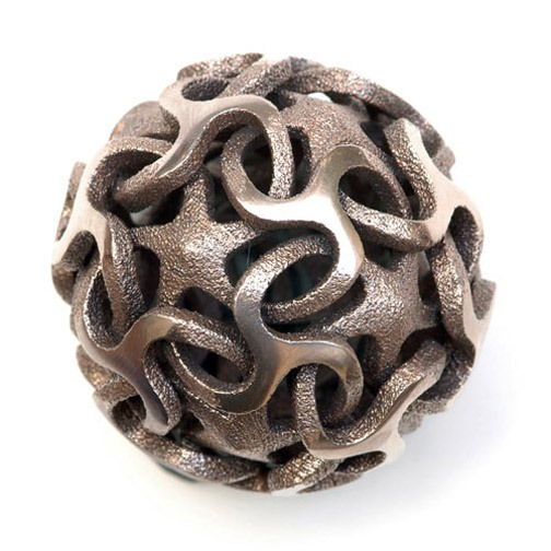 Math Craft Inspiration of the Week: The Polyhedral Metal Sculptures of Vladimir Bulatov