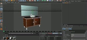 Make 3D models of a sink & cabinet in MAXON Cinema 4D