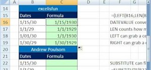 Fix date problems in Microsoft Excel