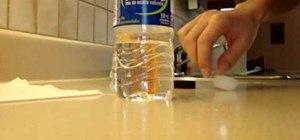 Make a baking soda bottle bomb