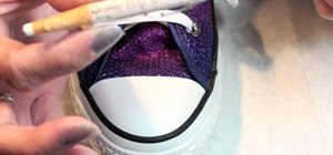 Add pizazz to shoes and makeup bags with rhinestones