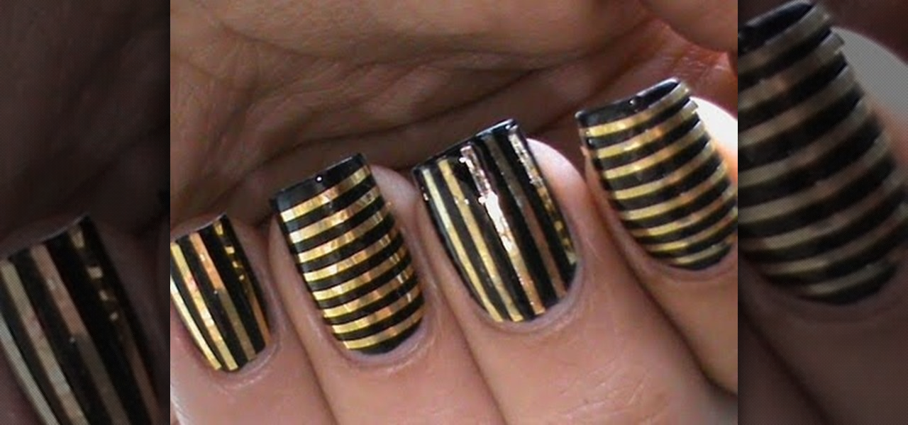 How to Do Striping Tape Nails « Nails & Manicure