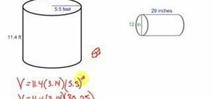 Find the volume of a cylinder quickly