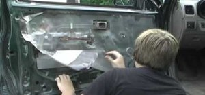 Remove a car door panel