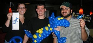 Blue Lizard Balloon Animal Corporate Logo Sculpture by Your Balloon Man