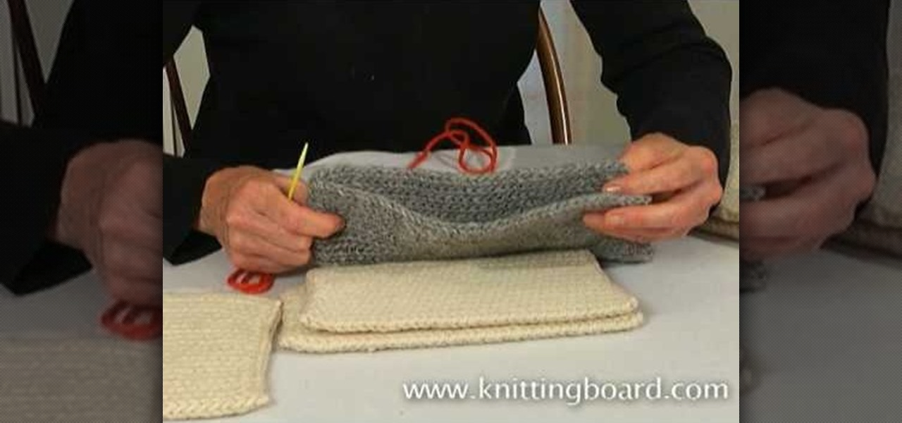 Knitting 4 Stitches Together : How to Sew knitted pieces together using a whip stitch and other stitches   K...
