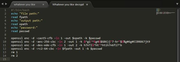 OpenSSL Unique Encryption/Decryption Scripts