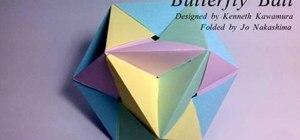 Fold a modular origami butterfly ball