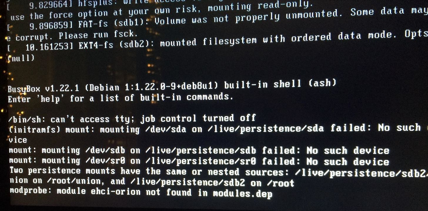 [Help] Persistent Kali Live Stops During Boot (Multiple Mounts)