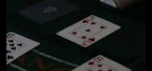 Double down and split hands while playing blackjack