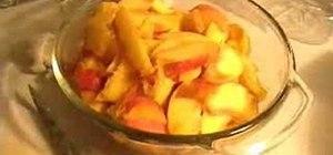 Prepare a raw peach cobbler