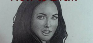 Draw the beautiful Megan Fox with pencils