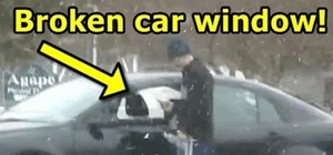 Fake break in to someone's car for a prank