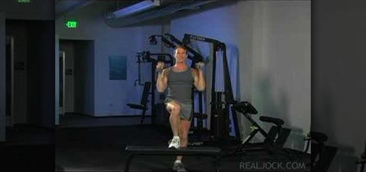 How To Do Dumbbell Step Up With Shoulder Press 171 Weights