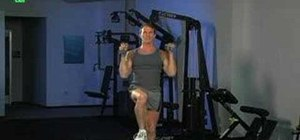 Do dumbbell step-up with shoulder press