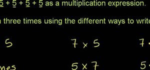 Rewrite an addition problem as a multiplication problem in math