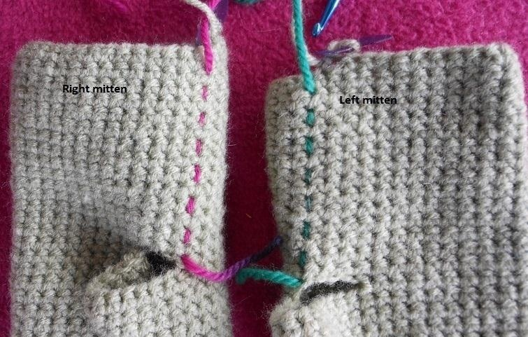 Knitting Vs Crochet Pictures : How to make simple mittens in single crochet « knitting
