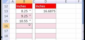 Format decimals & fractions as inches in MS Excel