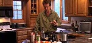 Cook a venison stew in a crockpot