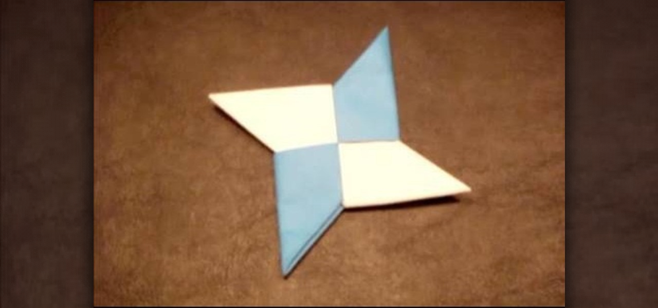 How to Fold an Origami Star Shuriken with Pictures