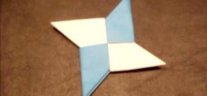 Make a double-sided origami shuriken ninja star