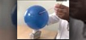 Pierce a balloon without popping
