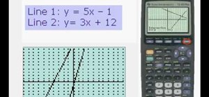 Graph a system of linear equations on a TI83 or TI84