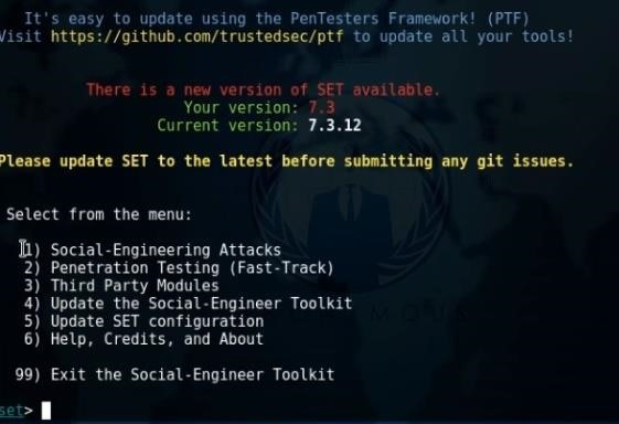 Mass-Mailing Hack Using SE Toolkit
