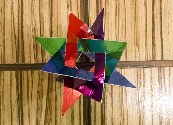 Math Craft Monday: Community Submissions (Plus How to Make an Orderly Tangle of Triangles)