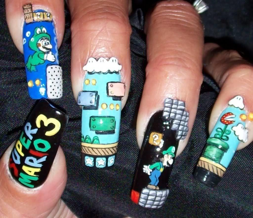 Ghetto Fabulous Super Mario Manicure