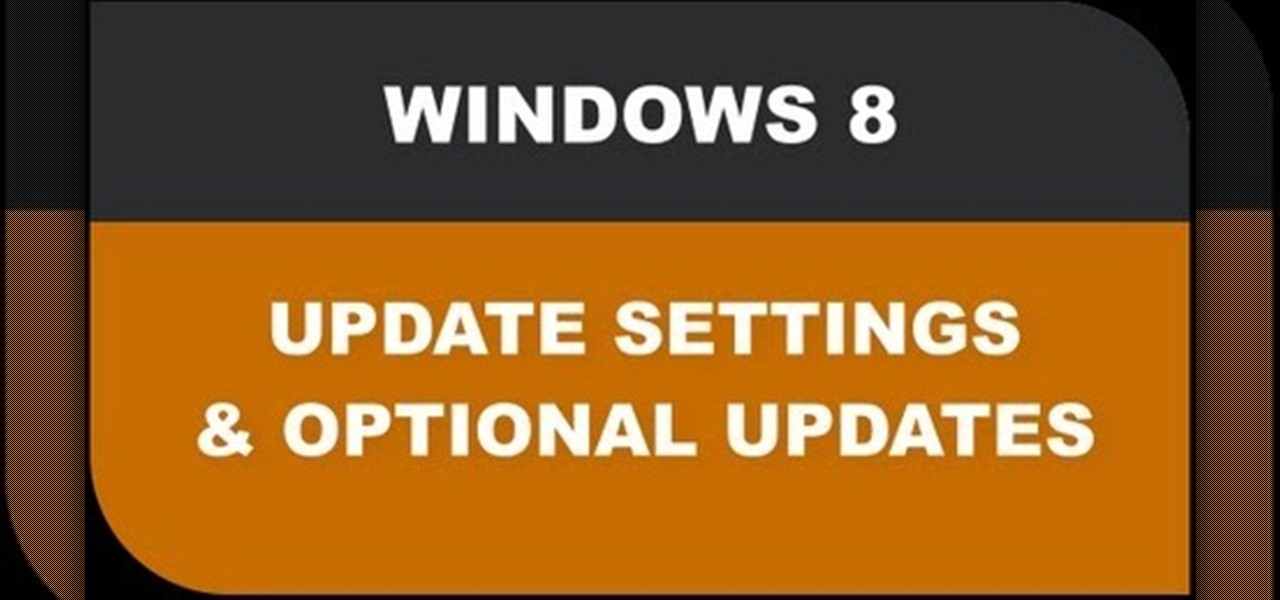 Change Windows 8 Update Settings & Check Optional Updates