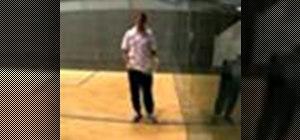 Hit a backhand drop shot in squash
