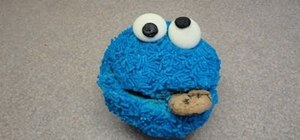 Decorate Cookie Monster, Elmo, Oscar the Grouch and Big Bird cupcakes