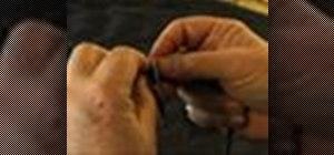 Tie a blood fisherman's knot (barrel knot)