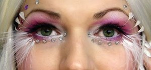 Create an ethereal angel makeup look for Halloween