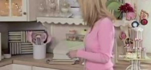 Make a baked potato shaped ice cream with Sandra Lee
