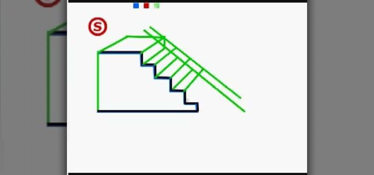 how to draw a 3d staircase drawing illustration wonderhowto - How To Draw 3d Diagrams