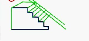 Draw a 3d staircase